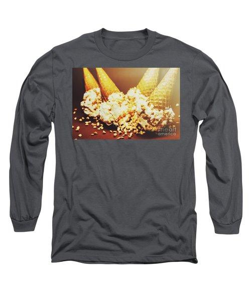 Four Artistic Ice-cream Cones Long Sleeve T-Shirt
