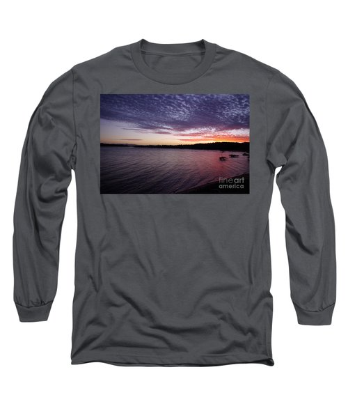 Long Sleeve T-Shirt featuring the photograph Four Elements Sunset Sequence 4 Coconuts Qld  by Kerryn Madsen- Pietsch