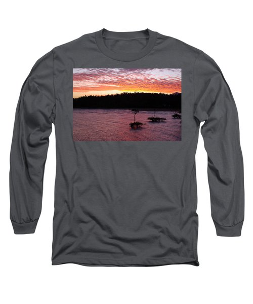 Long Sleeve T-Shirt featuring the photograph Four Elements Sunset Sequence 5 Coconuts Qld  by Kerryn Madsen - Pietsch
