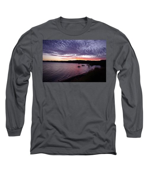 Long Sleeve T-Shirt featuring the photograph Four Elements Sunset Sequence 6 Coconuts Qld  by Kerryn Madsen-Pietsch