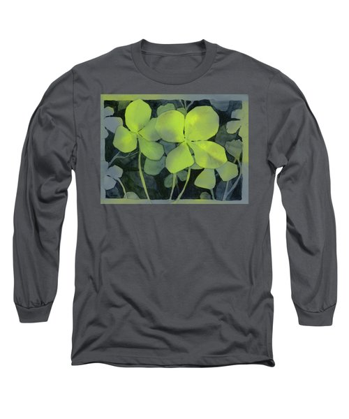Four Leaf Clover Watercolor Long Sleeve T-Shirt