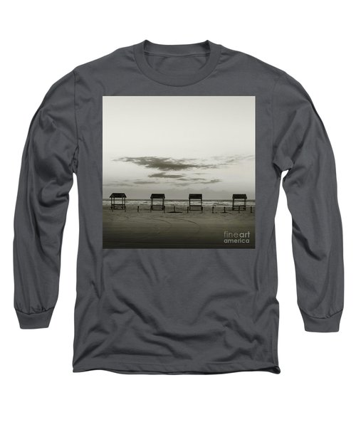 Four On The Beach Long Sleeve T-Shirt by Sebastian Mathews Szewczyk