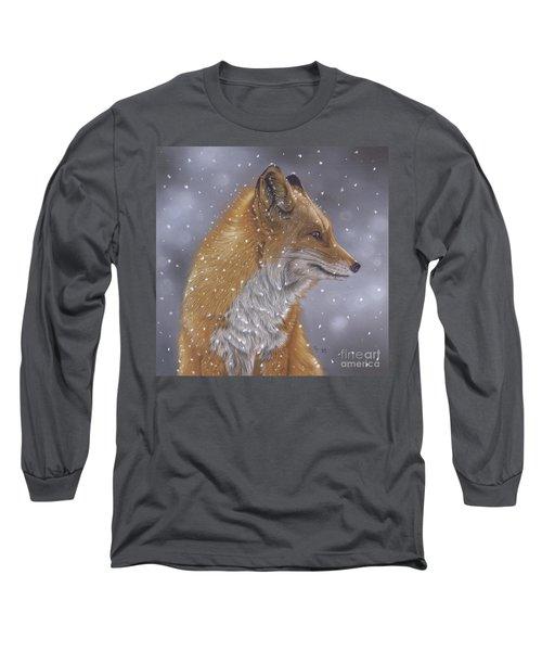 Fox In A Flurry Long Sleeve T-Shirt