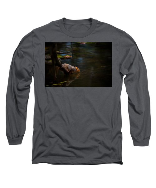 Fox Squirrel Drinking Long Sleeve T-Shirt