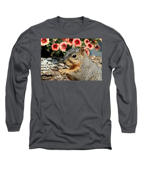 Fox Squirrel Portrait Long Sleeve T-Shirt