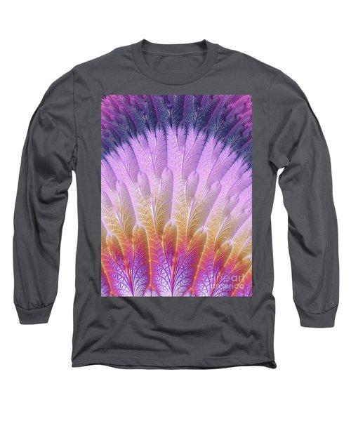 Fractal Feather Fan Long Sleeve T-Shirt