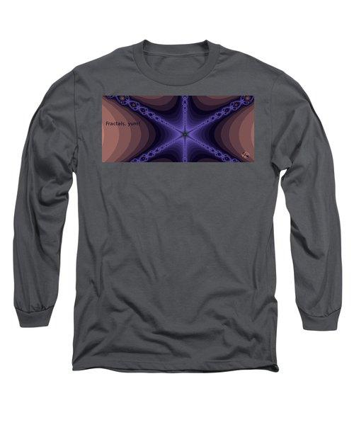 Fractals Yum Long Sleeve T-Shirt