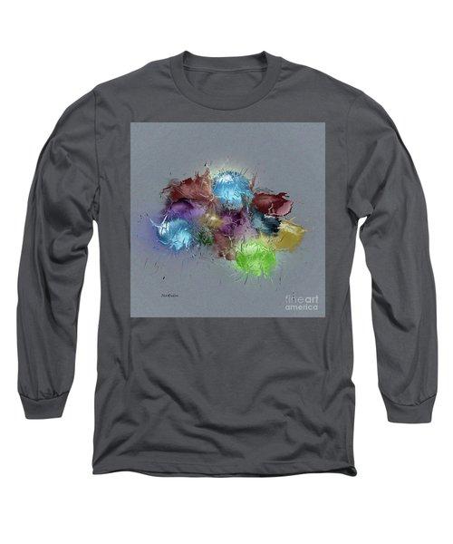 Long Sleeve T-Shirt featuring the digital art Fractured Bouqet 1 Pc by John Krakora