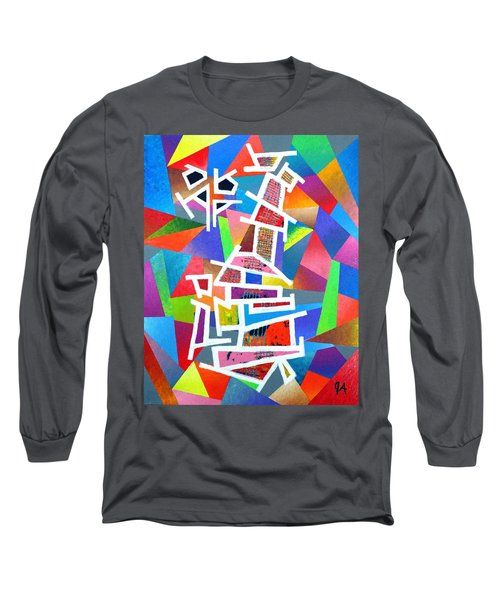Fractured Instrument Of Love Long Sleeve T-Shirt by Jeremy Aiyadurai