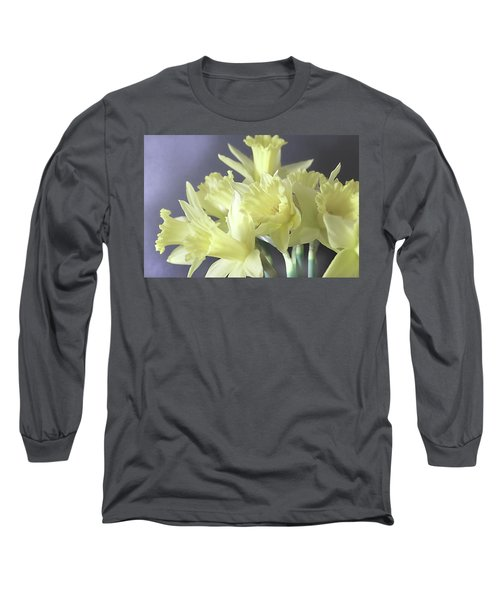 Fragile Daffodils Long Sleeve T-Shirt by Jacqi Elmslie