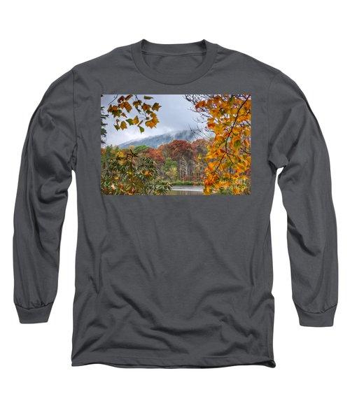 Framed By Fall Long Sleeve T-Shirt by Kerri Farley