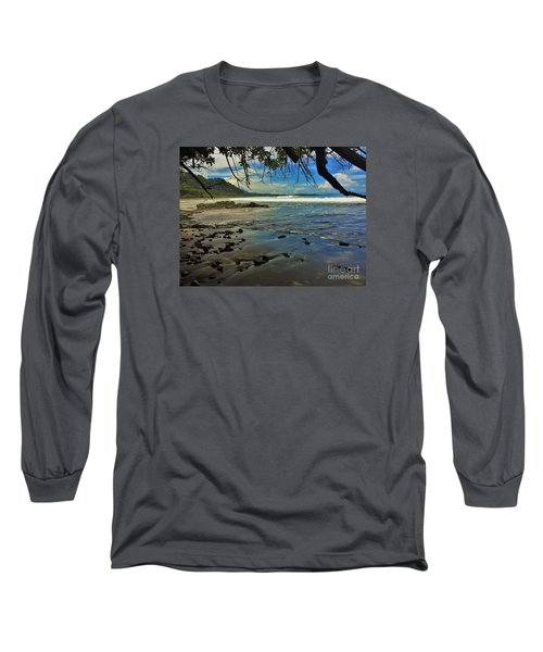 Long Sleeve T-Shirt featuring the photograph Framing The Tide by Pamela Blizzard