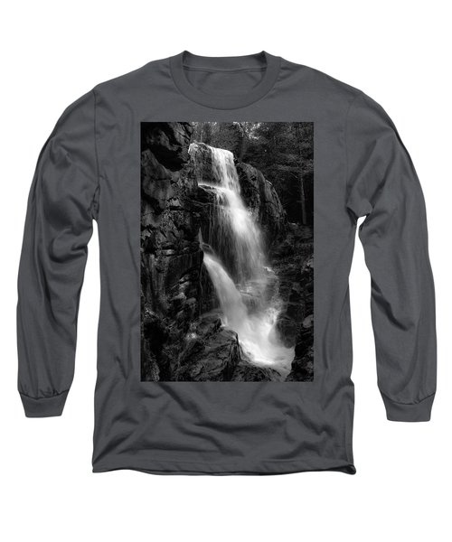 Franconia Notch Waterfall Long Sleeve T-Shirt by Jason Moynihan