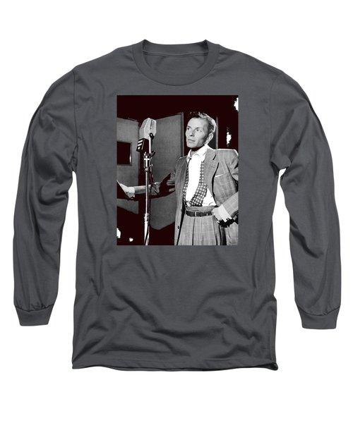 Frank Sinatra William Gottlieb Photo Liederkranz Hall New York City 1947-2015 Long Sleeve T-Shirt by David Lee Guss