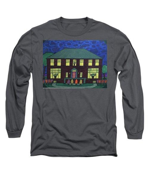 Frank Spies Home. Historical Menominee Art. Long Sleeve T-Shirt