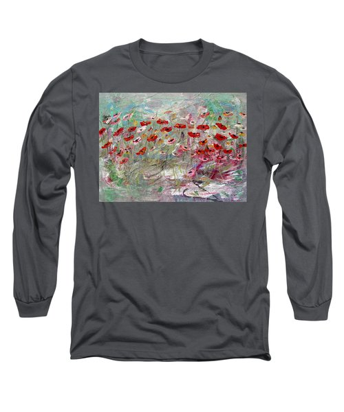 Free Wild Poppies Long Sleeve T-Shirt