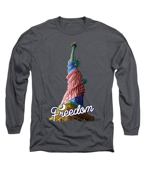 Freedom Long Sleeve T-Shirt by Anthony Mwangi