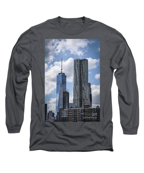 Freedom Tower Long Sleeve T-Shirt by Judy Wolinsky