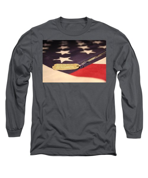 Long Sleeve T-Shirt featuring the photograph Freedom's Price by Laddie Halupa
