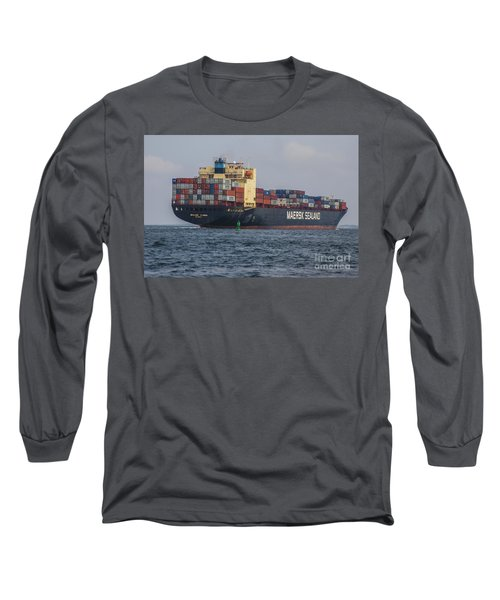 Freighter Headed Out To Sea Long Sleeve T-Shirt