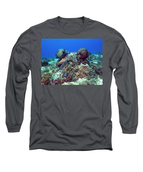 French Angelfish And The Green Turtle Long Sleeve T-Shirt