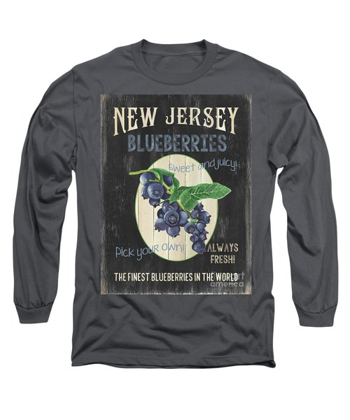 Long Sleeve T-Shirt featuring the painting Fresh Berries 1 by Debbie DeWitt