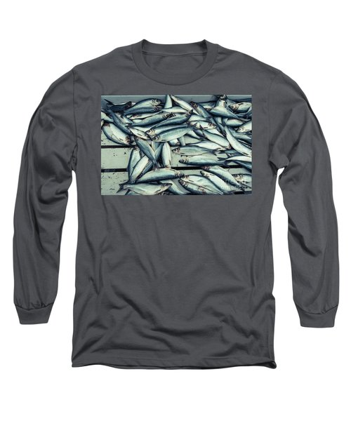 Long Sleeve T-Shirt featuring the photograph Fresh Caught Herring Fish by Edward Fielding