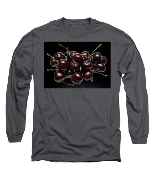 Fresh Cherries Long Sleeve T-Shirt by David French