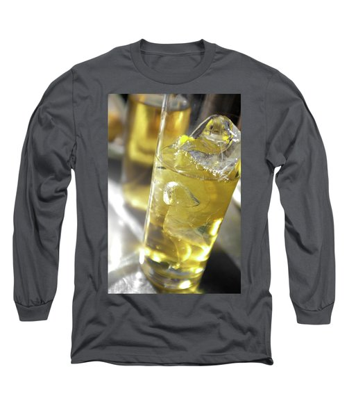 Long Sleeve T-Shirt featuring the photograph Fresh Drink With Lemon by Carlos Caetano