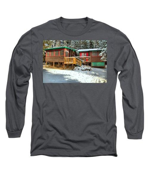 Fresh Snow At The Beauty Creek Hostel Long Sleeve T-Shirt