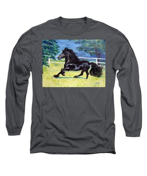 Friesian, Run Like The Wind Long Sleeve T-Shirt