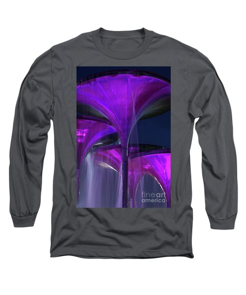 Frog Fountain At Texas Christian University Long Sleeve T-Shirt