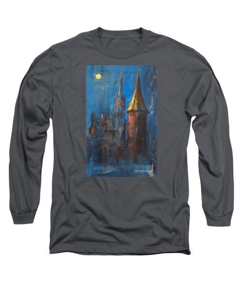 Long Sleeve T-Shirt featuring the painting From Medieval Times by Arturas Slapsys
