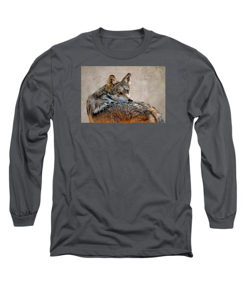 Long Sleeve T-Shirt featuring the mixed media From Out Of The Mist by Elaine Malott