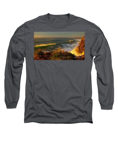 Long Sleeve T-Shirt featuring the photograph From The Headland by Trena Mara