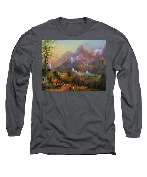 From The Shire To The Sea Long Sleeve T-Shirt by Joe  Gilronan
