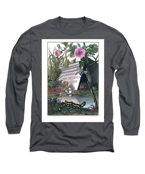Frontis Of Historia Naturalis Ranarum Nostratium Long Sleeve T-Shirt