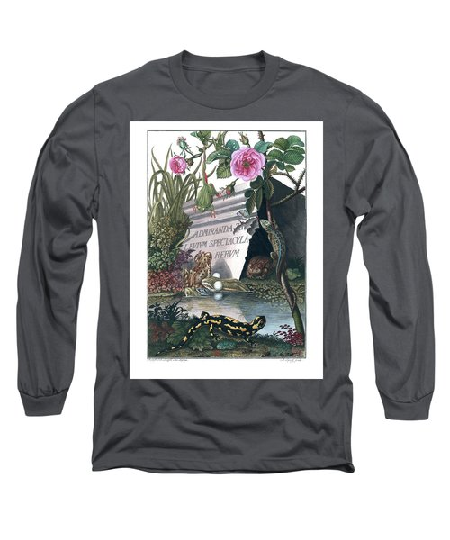 Frontis Of Historia Naturalis Ranarum Nostratium Long Sleeve T-Shirt
