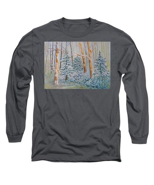 Winter Frost Long Sleeve T-Shirt by Joanne Smoley