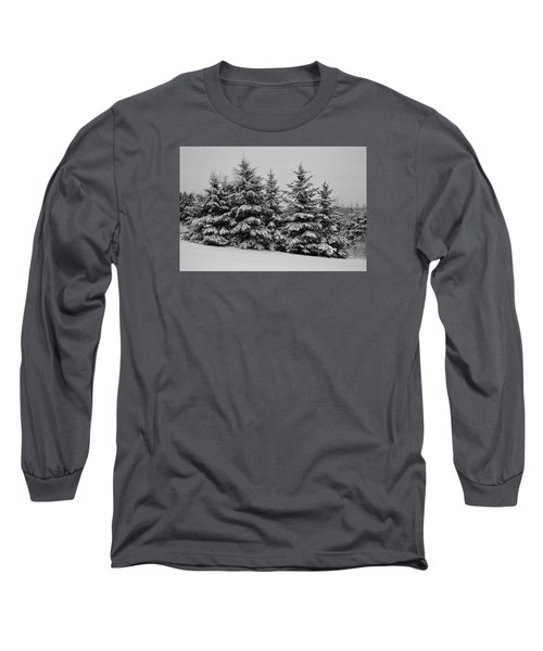 Long Sleeve T-Shirt featuring the photograph Frosted Trees by Kathleen Sartoris