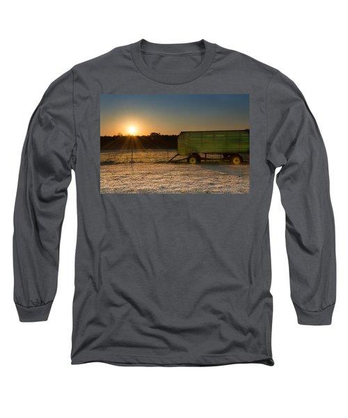Frosty John Deere Sunrise Long Sleeve T-Shirt