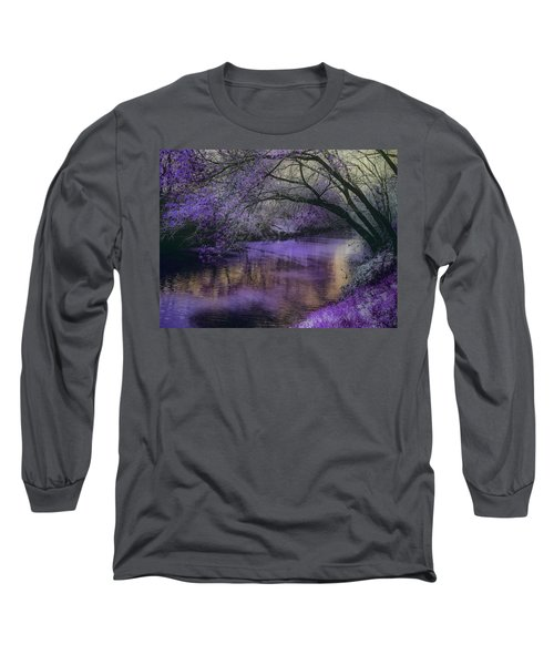 Frosty Lilac Wilderness Long Sleeve T-Shirt by Michele Carter