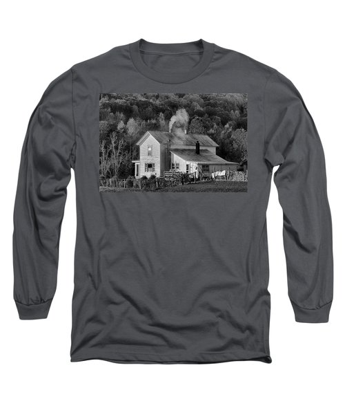Long Sleeve T-Shirt featuring the photograph Frosty Morning by Denise Romano
