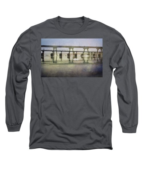 Long Sleeve T-Shirt featuring the photograph Frozen Bridge by Jean Haynes