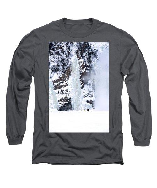 Frozen Montmorency Falls  Long Sleeve T-Shirt