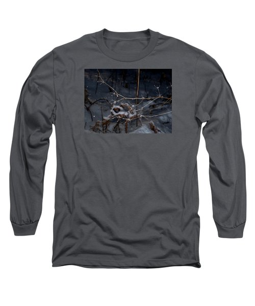 Long Sleeve T-Shirt featuring the photograph Frozen Rain by Annette Berglund