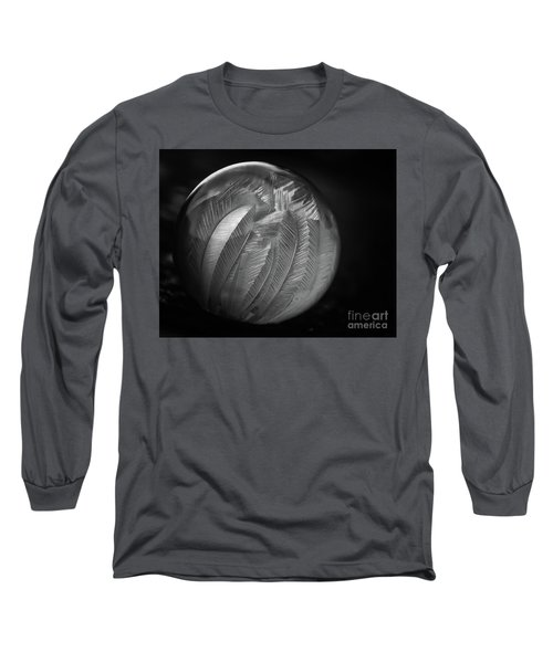 Frozen Soap Bubble - Black And White - Macro Long Sleeve T-Shirt