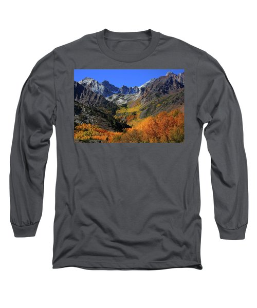 Full Autumn Display At Mcgee Creek Canyon In The Eastern Sierras Long Sleeve T-Shirt