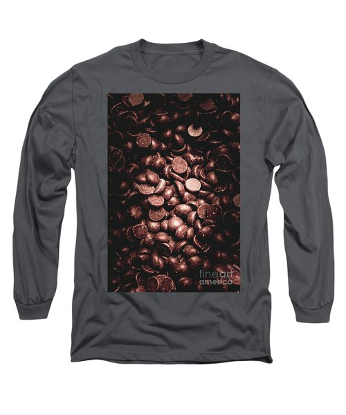 Full Frame Background Of Chocolate Chips Long Sleeve T-Shirt