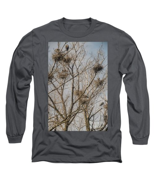 Long Sleeve T-Shirt featuring the photograph Full House by David Bearden